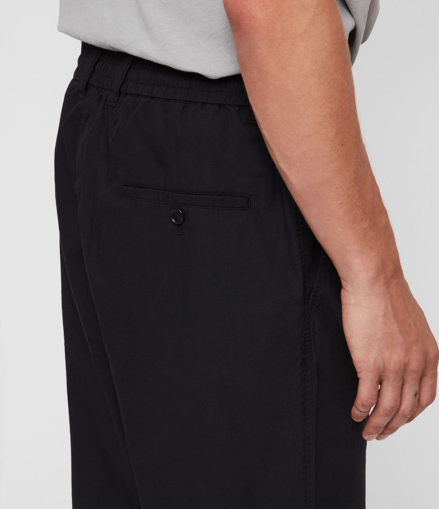 Men's Keet Cropped Wide-Leg Trousers (black) - Image 5