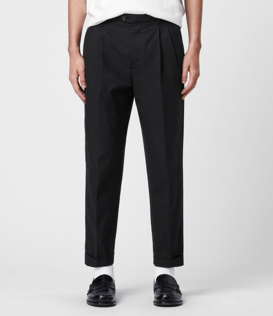 Hommes Pantalon à Pinces Forge (black) - Image 1