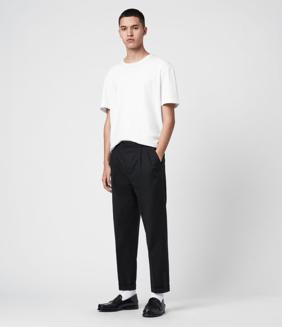 Hommes Pantalon à Pinces Forge (black) - Image 3