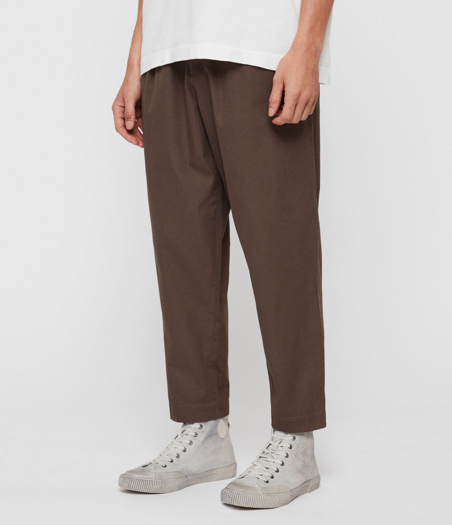 Men's Keet Cropped Wide-Leg Trousers (khaki_green) - Image 2