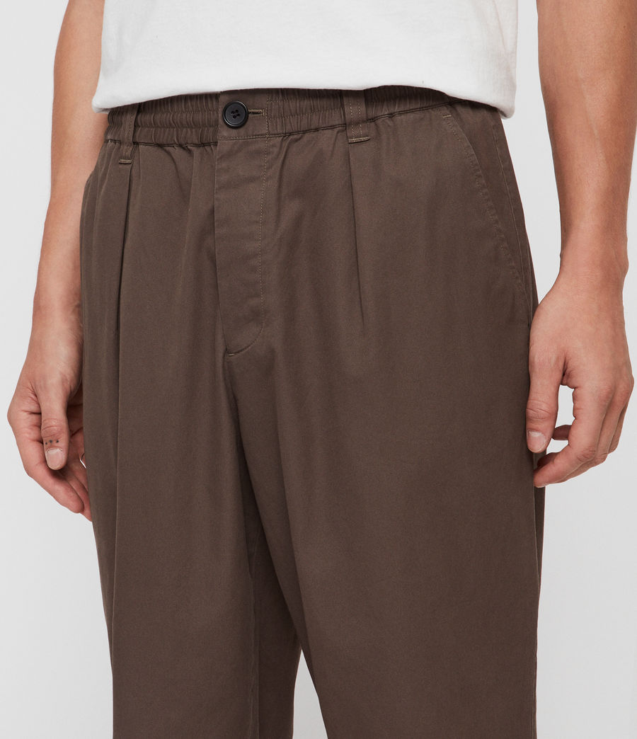Men's Keet Cropped Wide-Leg Trousers (khaki_green) - Image 4
