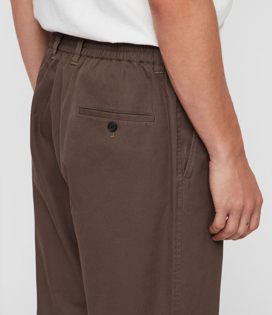 Men's Keet Cropped Wide-Leg Trousers (khaki_green) - Image 5