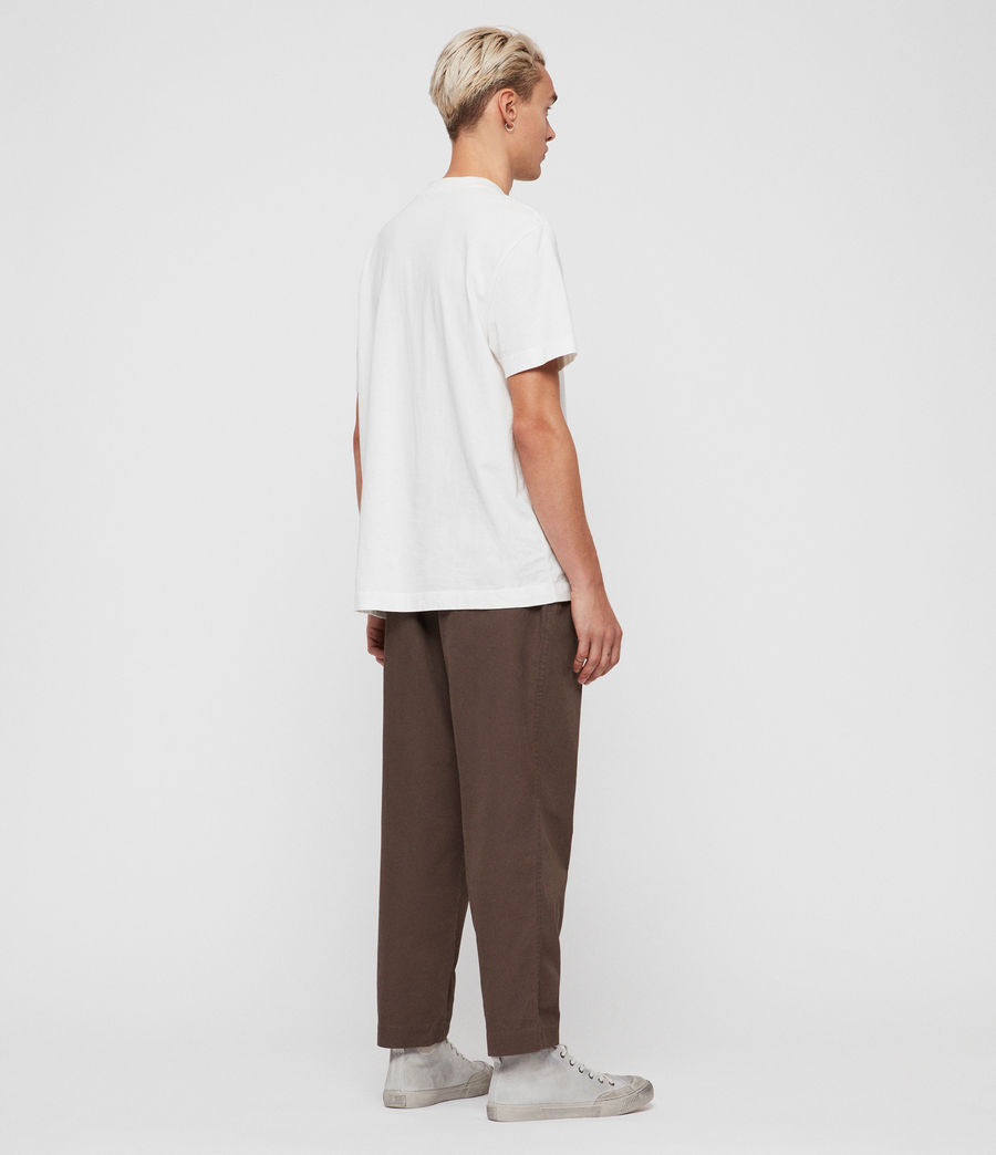 Mens Keet Cropped Wide-Leg Pants (khaki_green) - Image 6