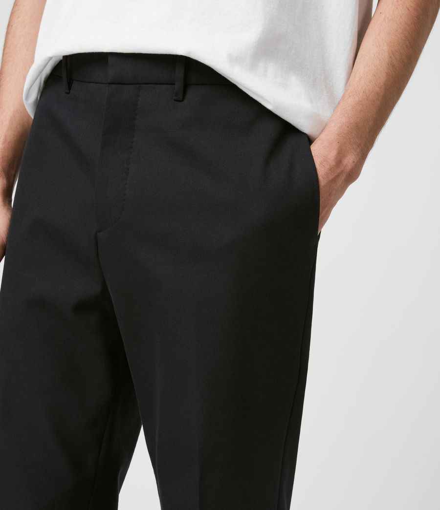 Men's Gibbs Cropped Slim Trousers (black) - Image 2