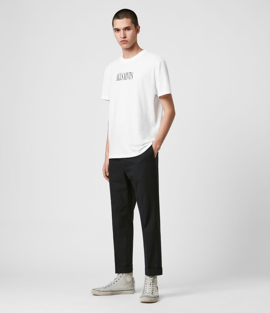 Men's Gibbs Cropped Slim Trousers (black) - Image 3