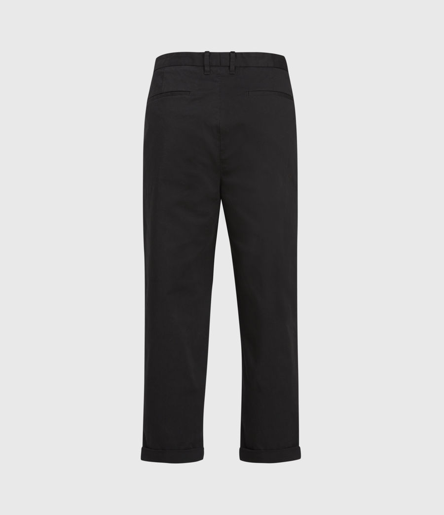 Men's Kali Cropped Straight Trousers (black) - Image 2