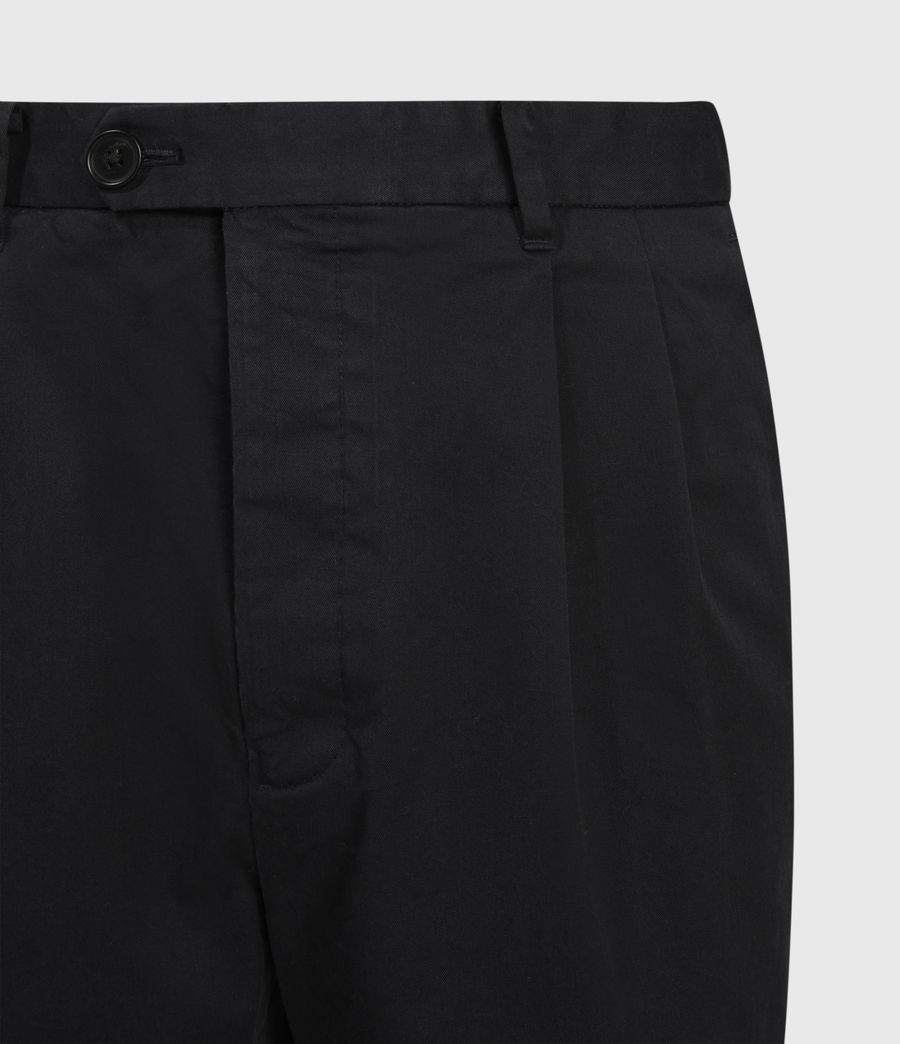 Men's Kali Cropped Straight Trousers (black) - Image 3