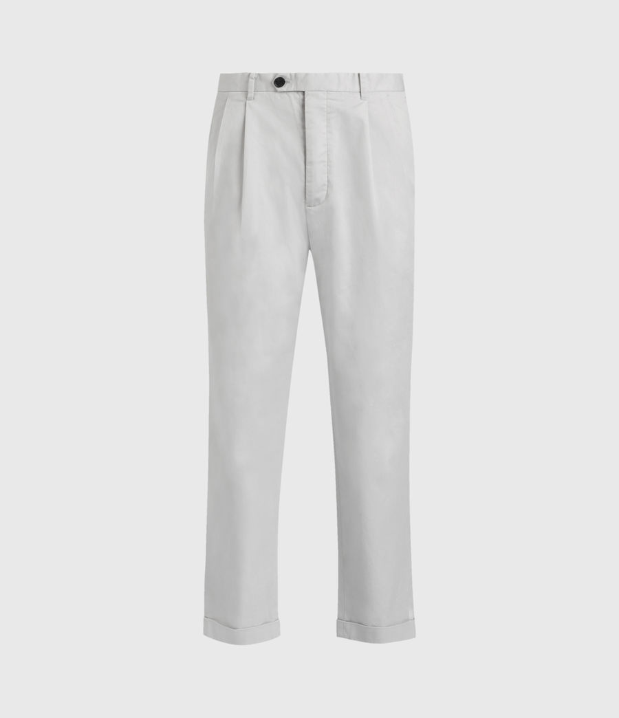 Hommes Kali Cropped Straight Trousers (zinc_grey) - Image 1