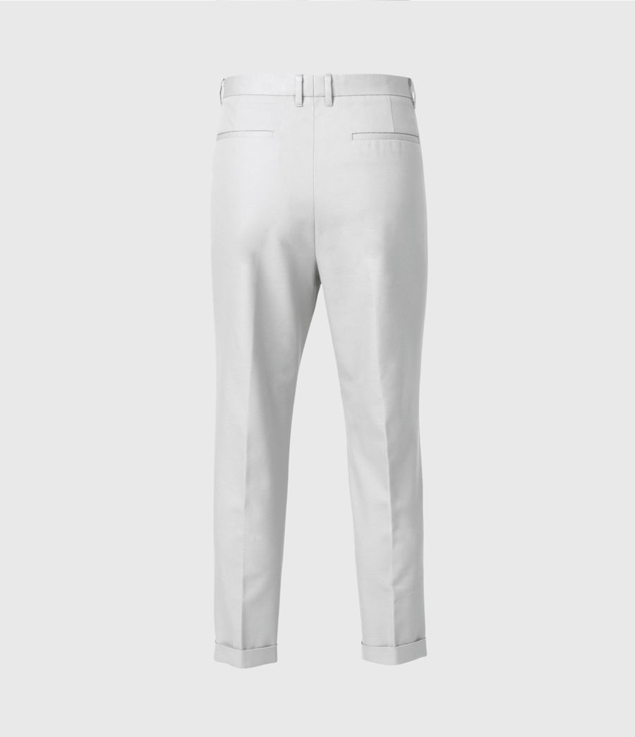 Men's Kali Cropped Straight Trousers (zinc_grey) - Image 2