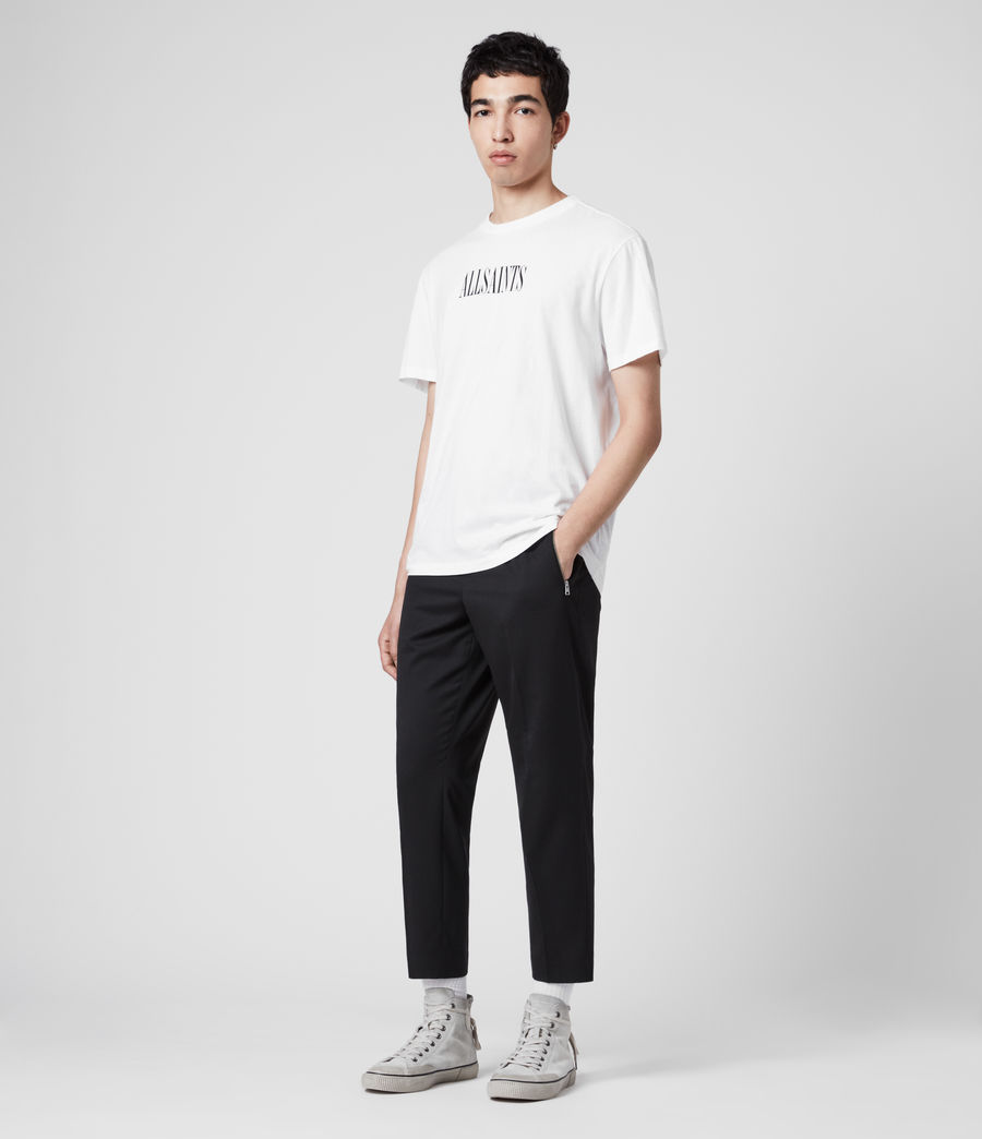Men's Buxton Cropped Slim Trousers (black) - Image 3