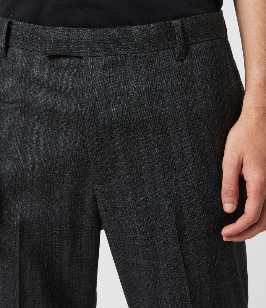 Herren Foxley Check Trousers (charcoal_grey) - Image 2