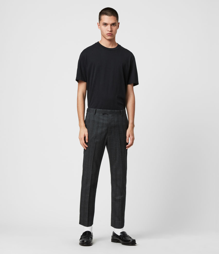 Herren Foxley Check Trousers (charcoal_grey) - Image 3