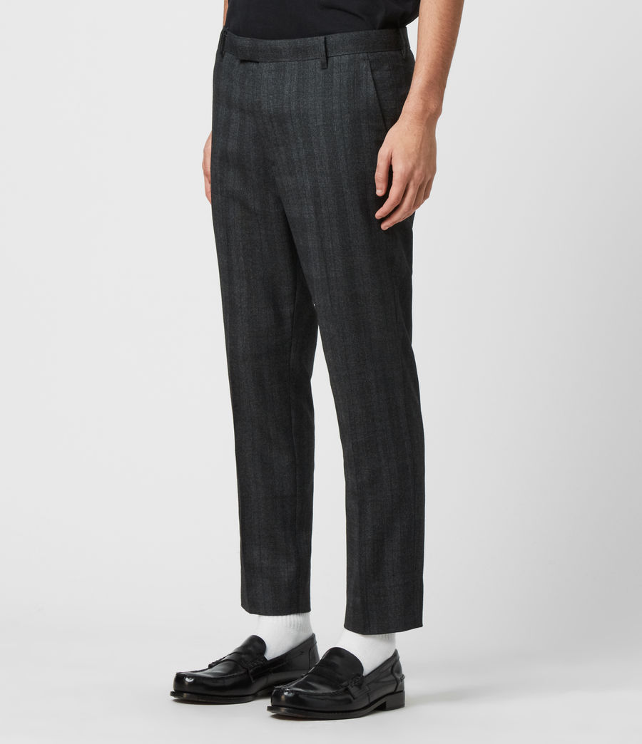 Herren Foxley Check Trousers (charcoal_grey) - Image 4