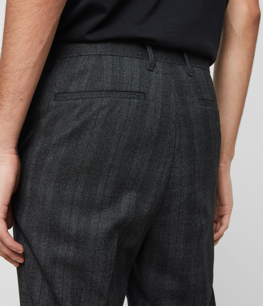 Herren Foxley Check Trousers (charcoal_grey) - Image 5