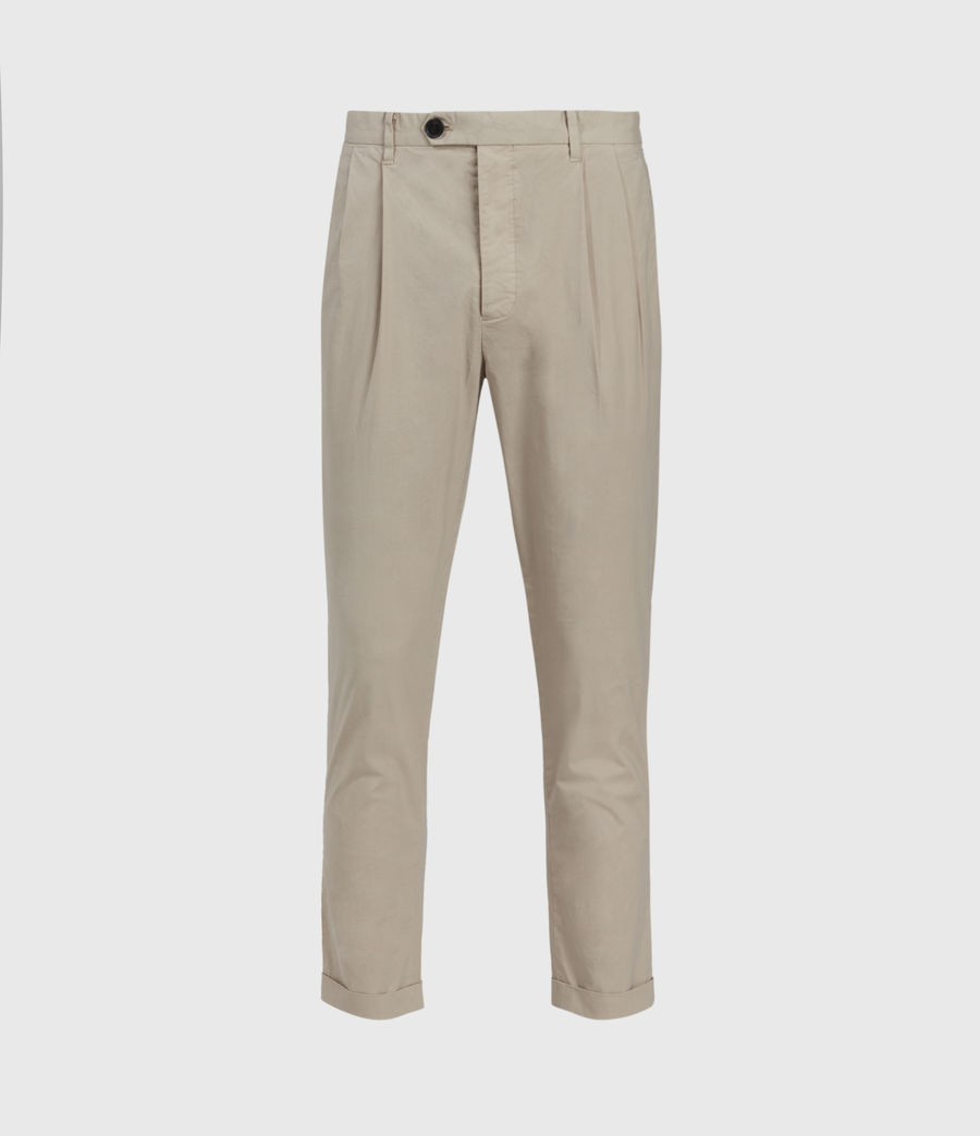 Men's Bengal Cropped Slim Trousers (limestone_taupe) - Image 1