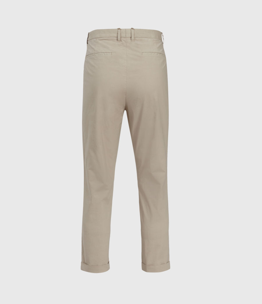 Men's Bengal Cropped Slim Trousers (limestone_taupe) - Image 2