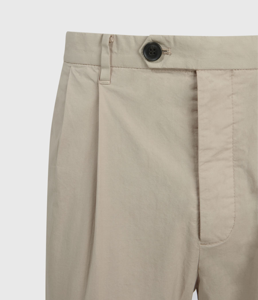 Men's Bengal Cropped Slim Trousers (limestone_taupe) - Image 3