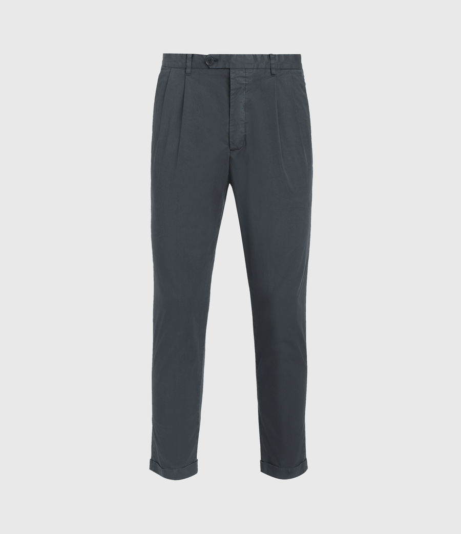 Men's Bengal Cropped Slim Trousers (basalt_grey) - Image 1