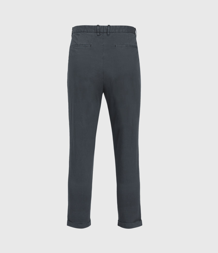 Men's Bengal Cropped Slim Trousers (basalt_grey) - Image 4