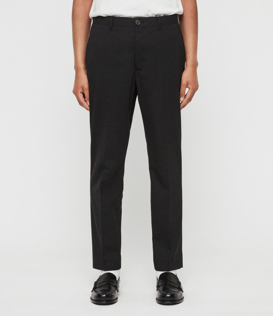 Mens Whyte Cropped Tailored Pants (jet_black) - Image 1