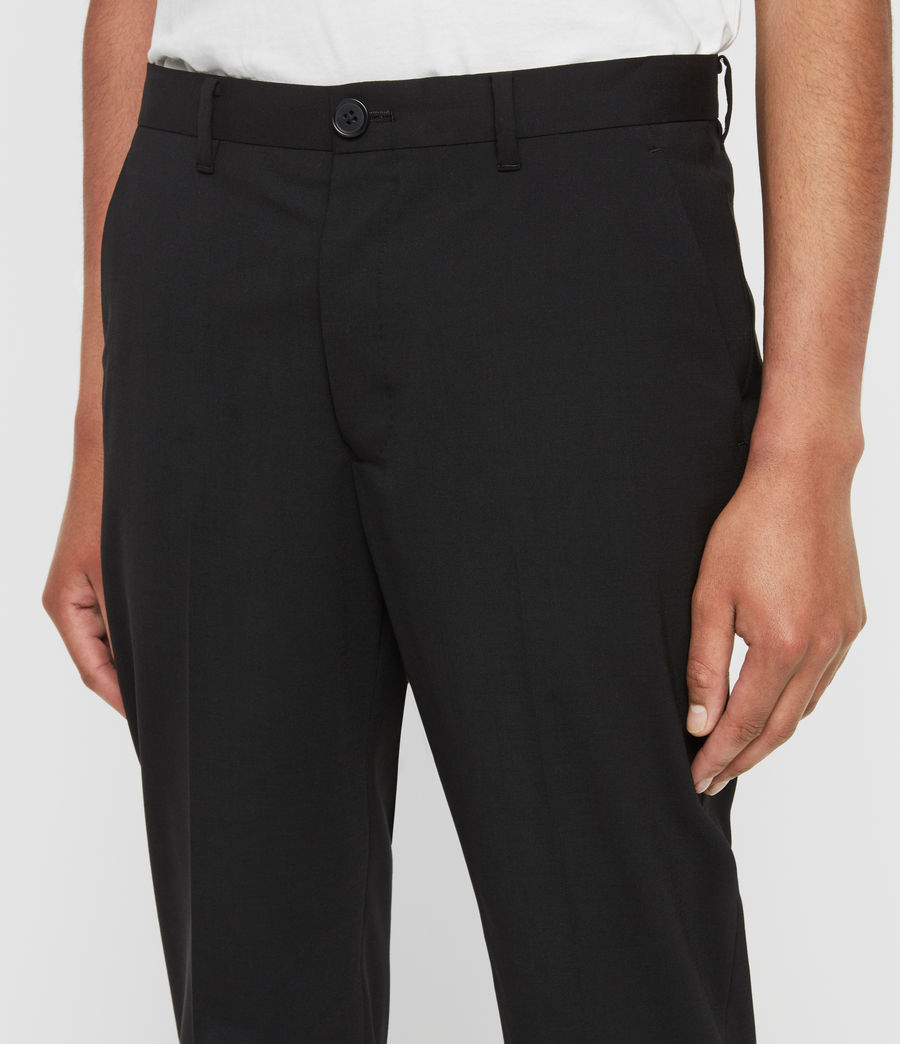 Men's Whyte Cropped Tailored Trousers (jet_black) - Image 2