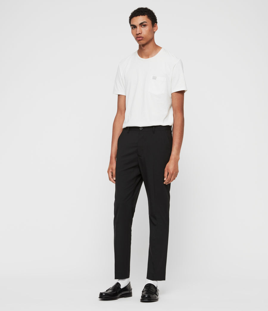 Mens Whyte Cropped Tailored Pants (jet_black) - Image 3