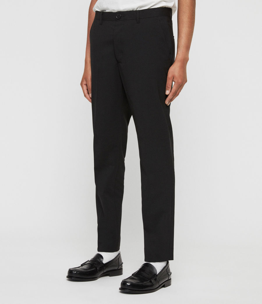 Men's Whyte Cropped Tailored Trousers (jet_black) - Image 4