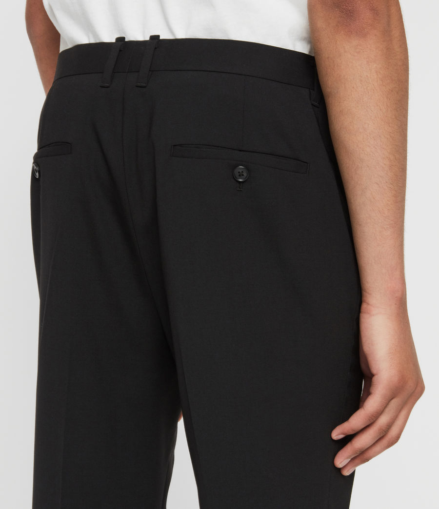 Mens Whyte Cropped Tailored Pants (jet_black) - Image 5
