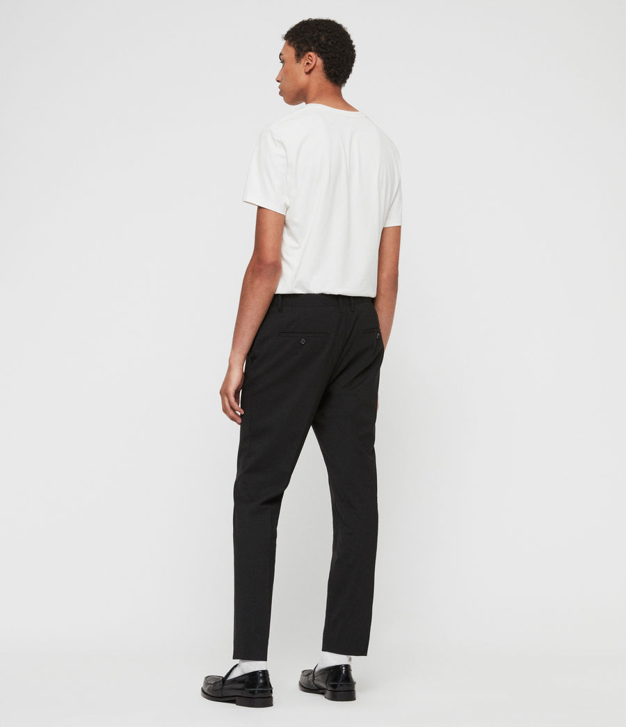 Men's Whyte Cropped Tailored Trousers (jet_black) - Image 6