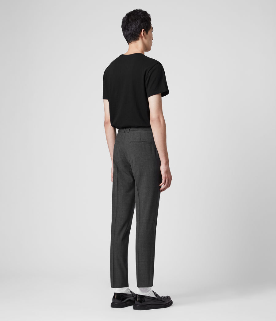 Hombres Cleaver Cropped Slim Trousers (dark_grey_marl) - Image 6