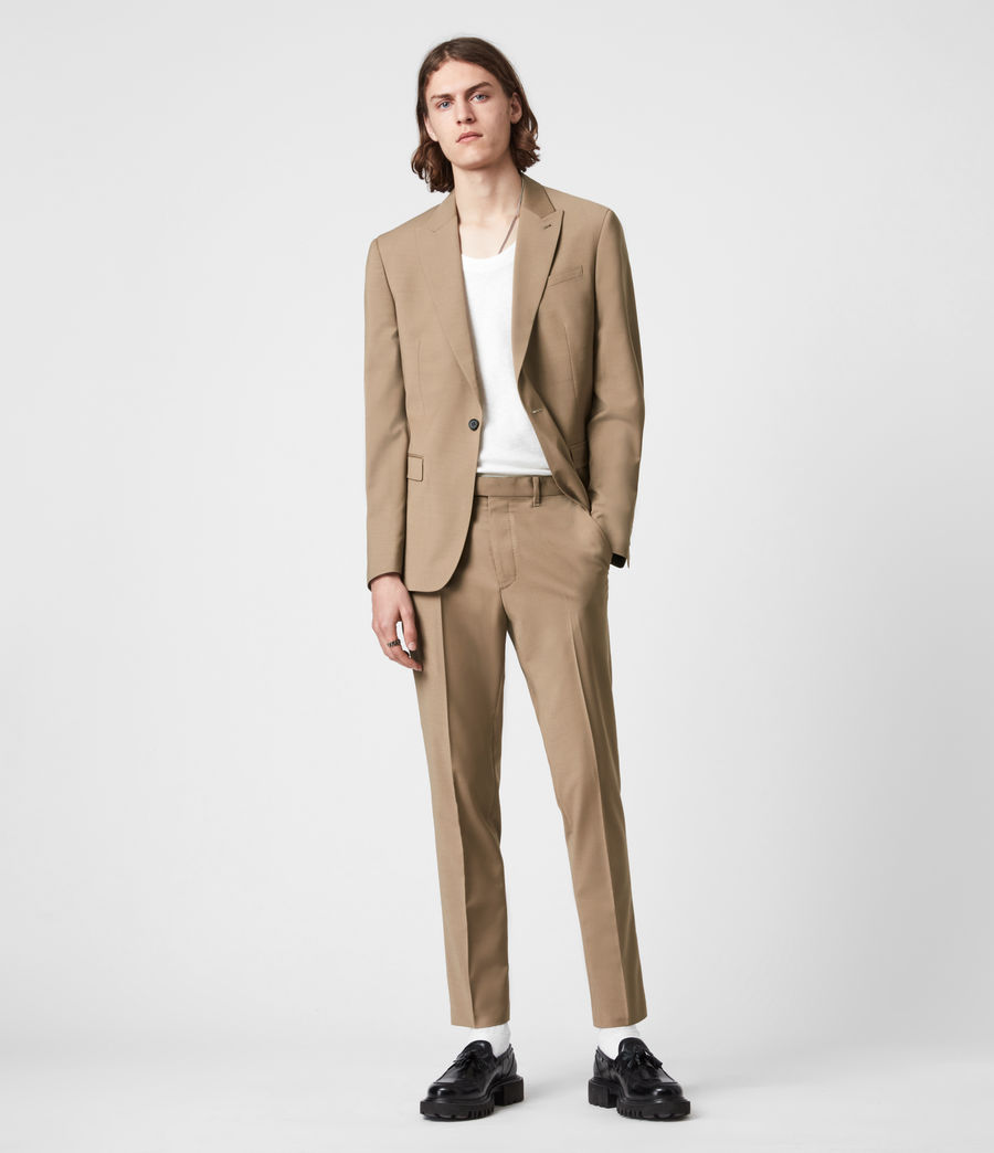 Herren Cleaver Cropped Slim Trousers (caenstone_brown) - Image 1