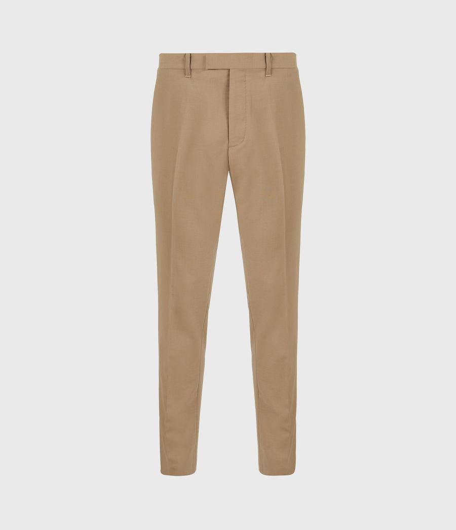 Herren Cleaver Cropped Slim Trousers (caenstone_brown) - Image 2