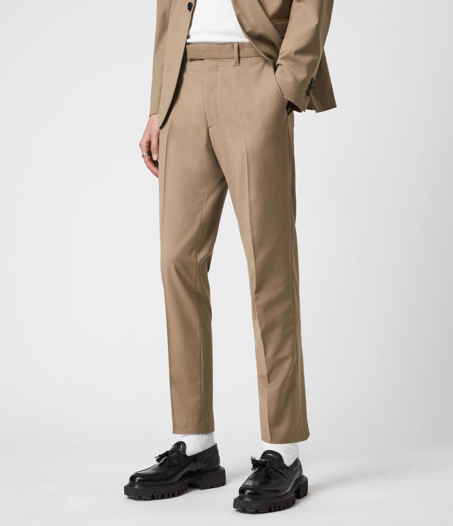 Herren Cleaver Cropped Slim Trousers (caenstone_brown) - Image 4