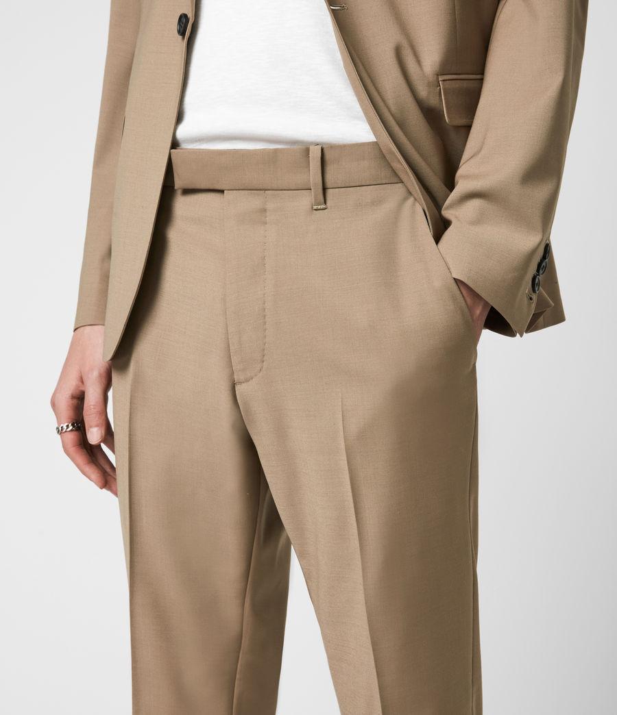 Herren Cleaver Cropped Slim Trousers (caenstone_brown) - Image 6