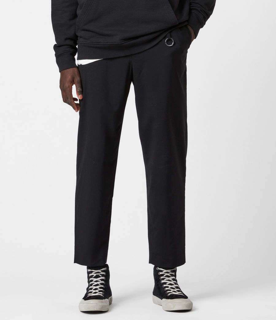 Hommes Pantalon Droit Raccourci Langley (black) - Image 1