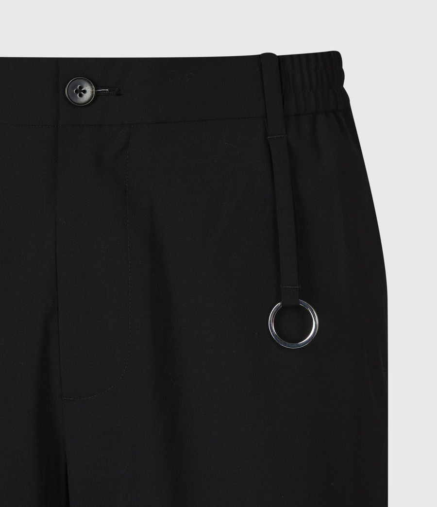 Hommes Pantalon Droit Raccourci Langley (black) - Image 5