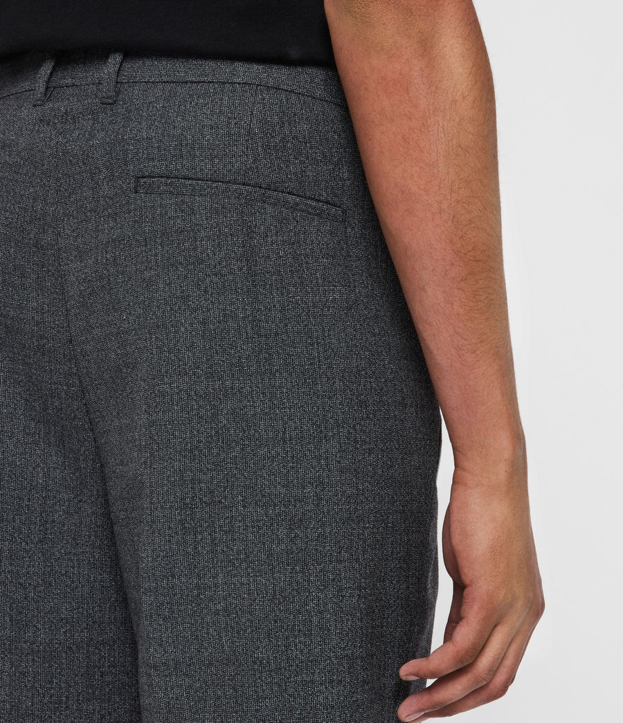 Men's Padfeild Cropped Slim Trousers (charcoal) - Image 2