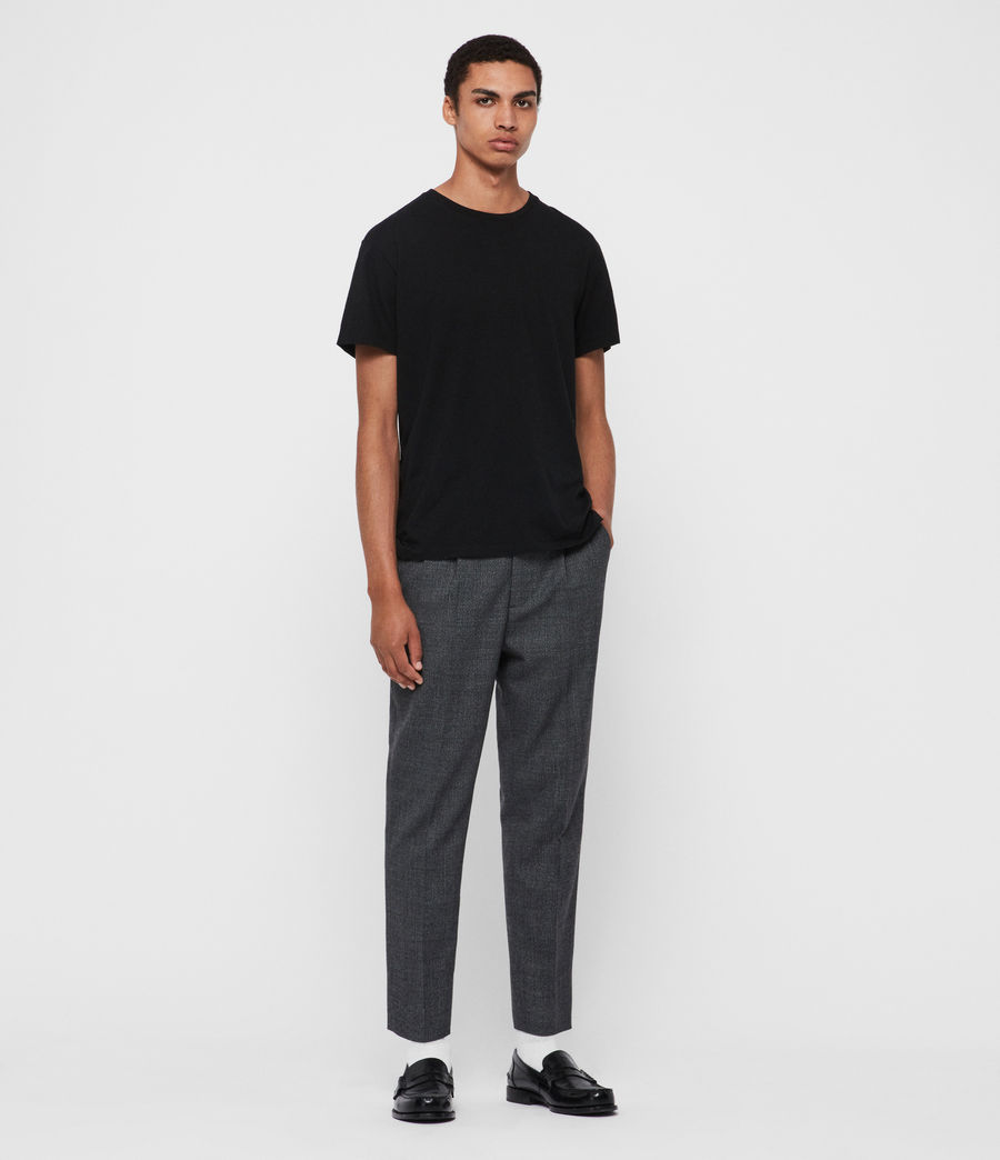 Men's Padfeild Cropped Slim Trousers (charcoal) - Image 3