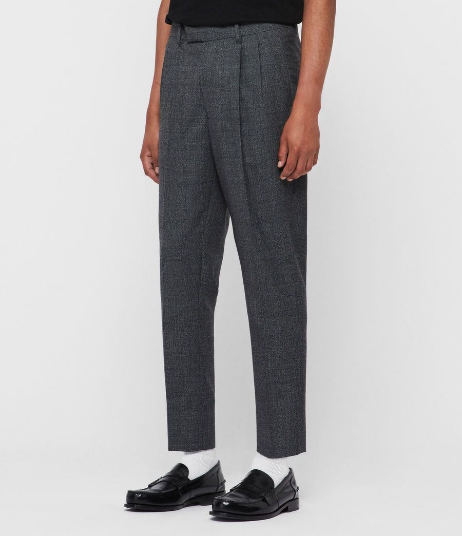 Men's Padfeild Cropped Slim Trousers (charcoal) - Image 4