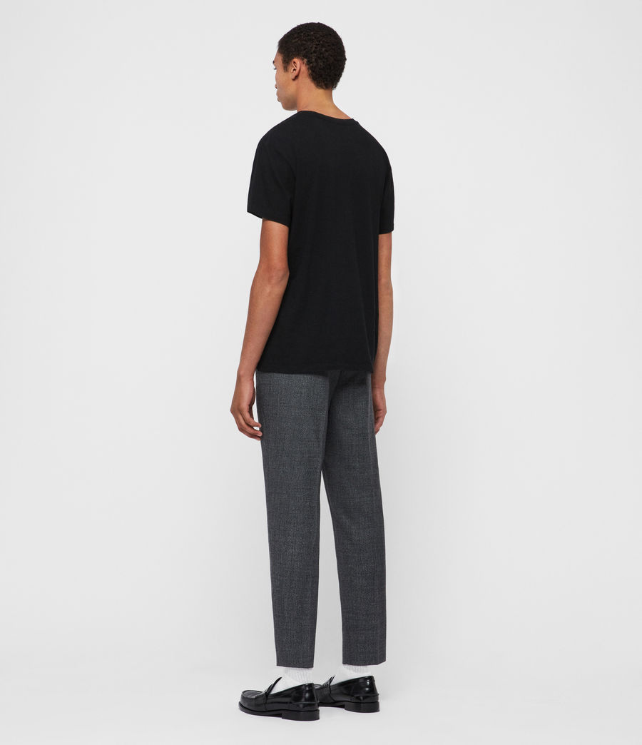 Men's Padfeild Cropped Slim Trousers (charcoal) - Image 5