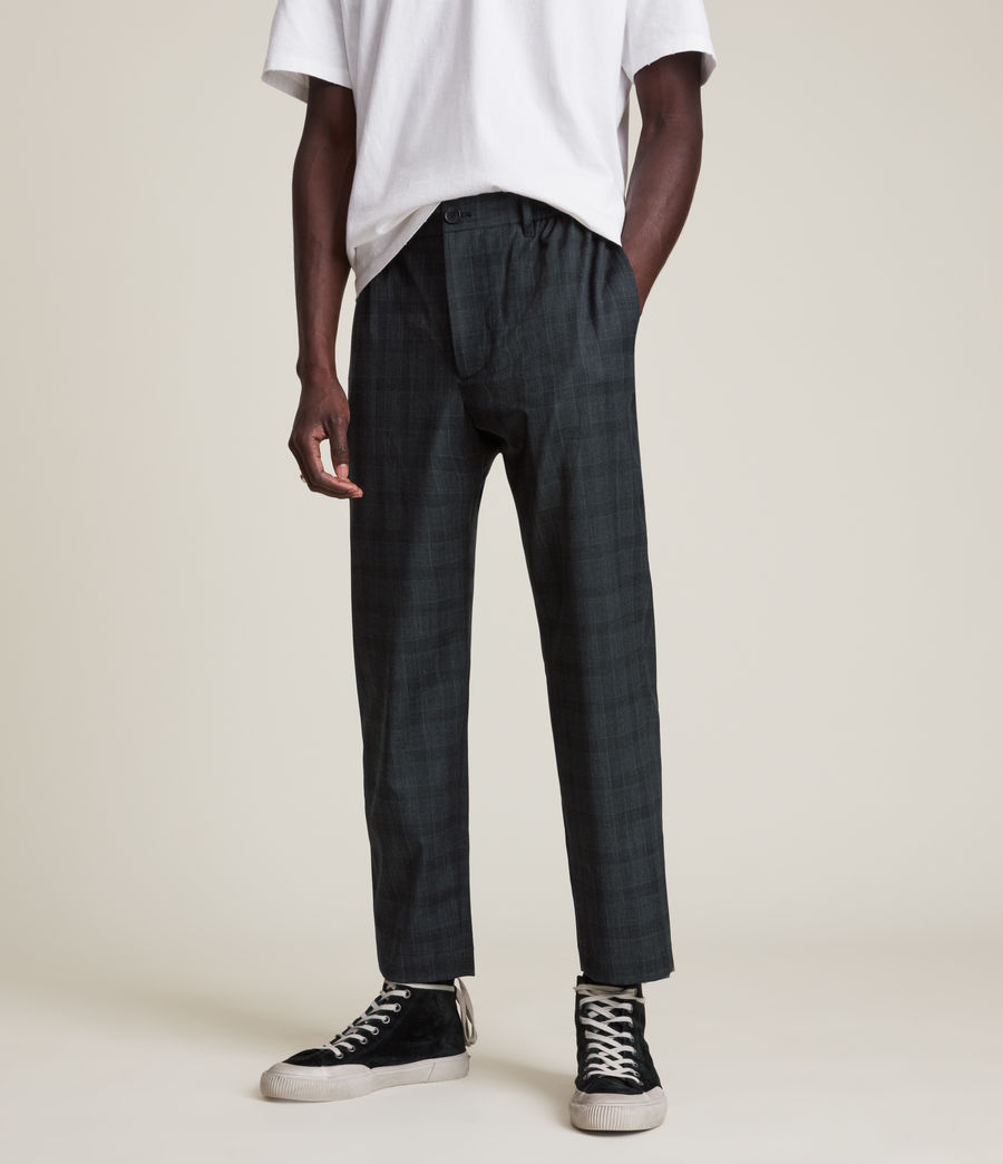 Men's Bout Cropped Slim Trousers (charcoal) - Image 2
