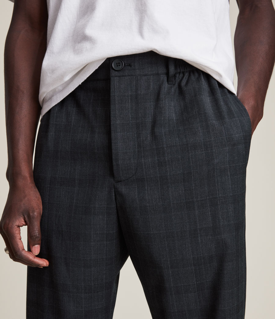 Men's Bout Cropped Slim Trousers (charcoal) - Image 3