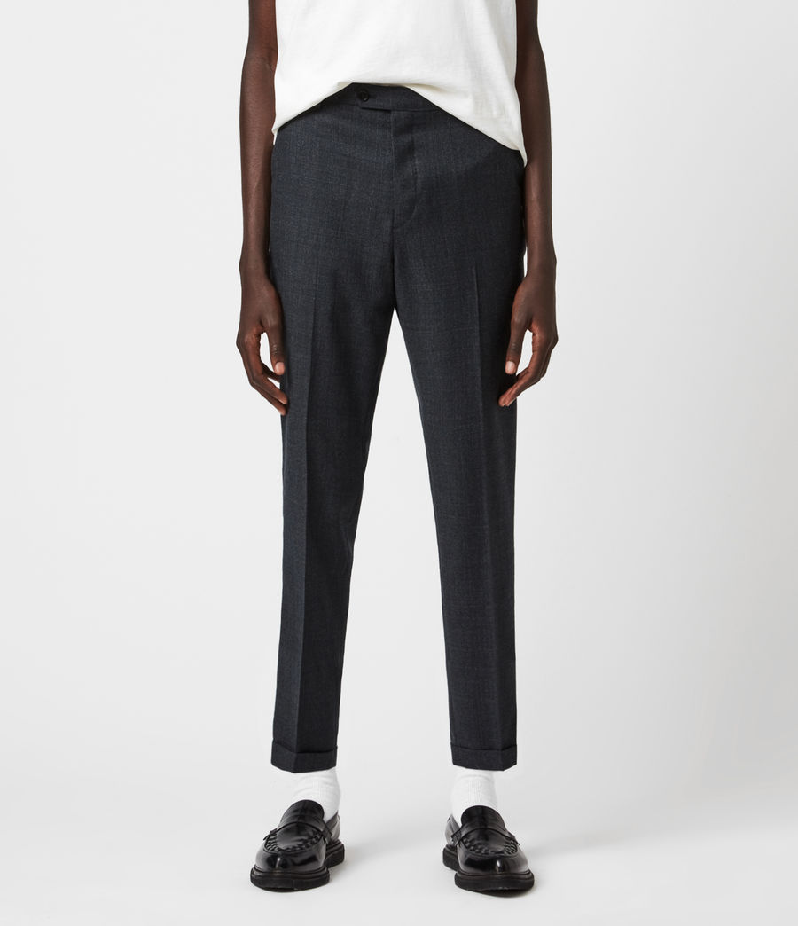 Men's Dayton Cropped Slim Trousers (charcoal) - Image 1