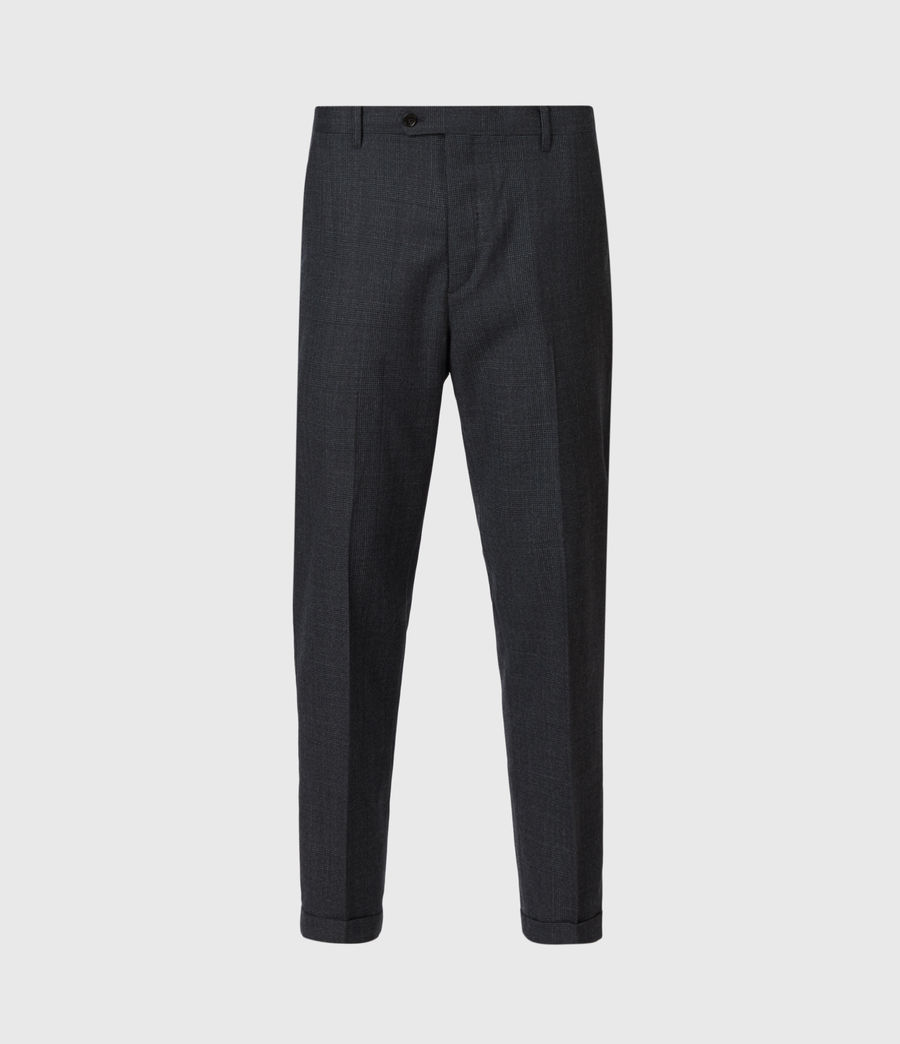 Men's Dayton Cropped Slim Trousers (charcoal) - Image 2
