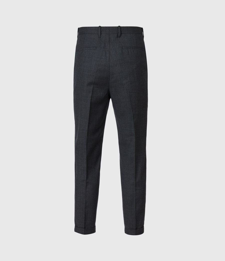 Men's Dayton Cropped Slim Trousers (charcoal) - Image 7