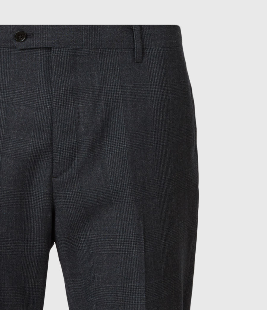 Men's Dayton Cropped Slim Trousers (charcoal) - Image 9