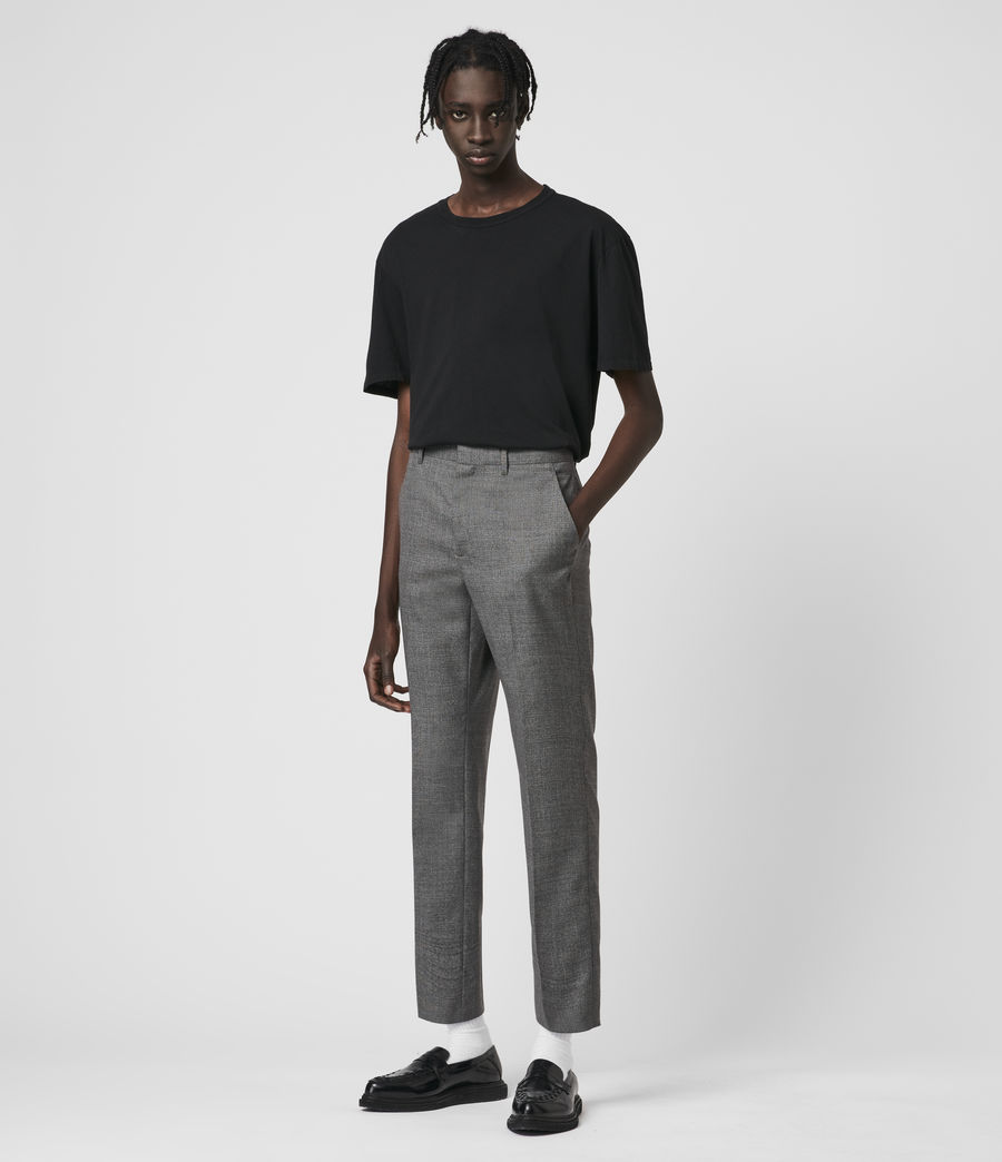 Hombre Arlow Wool Cropped Slim Pants (light_grey) - Image 1
