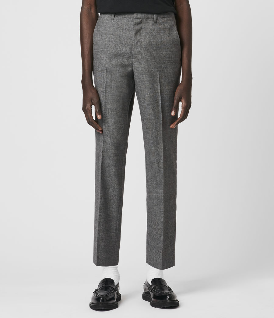 Hombre Arlow Wool Cropped Slim Pants (light_grey) - Image 3