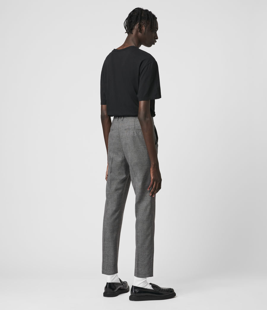 Hombre Arlow Wool Cropped Slim Pants (light_grey) - Image 5