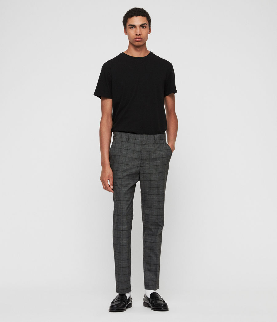 Mens Rathbone Cropped Slim Pants (grey) - Image 2